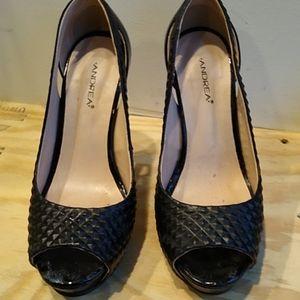 Sexy Black Open Toe Heels. 6